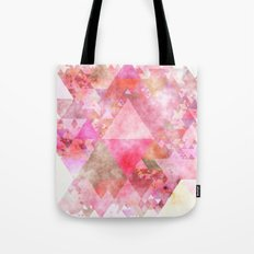 Triangles in pink - Watercolor Illustration pattern Tote Bag