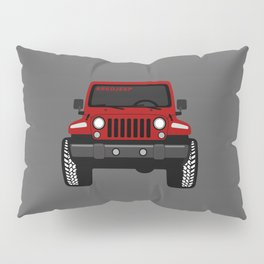 [JEEP] RED + GREY BG Pillow Sham