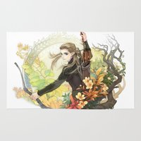 legolas Area & Throw Rugs featuring Legolas by kagalin