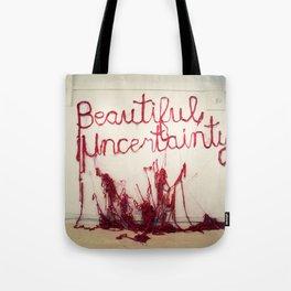 Beautiful Uncertainty, Silk Graffiti by Aubrie Costello Tote Bag