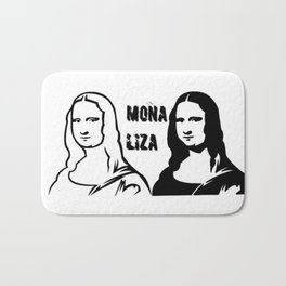 mona liza Bath Mat