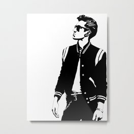 Alex in Black and White Metal Print