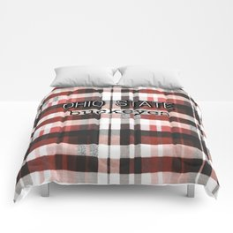 Ohio State Buckeye Plaid Comforters