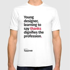 Young Designer — Advice #7 White Mens Fitted Tee MEDIUM
