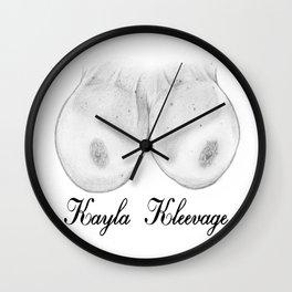 Kayla Kleevage Wall Clock