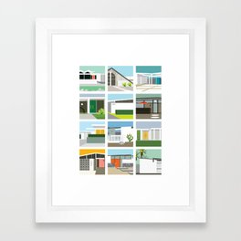 Midcentury Vintage Architecture Inspired by the Palm Springs Desert and Modern California Style Framed Art Print