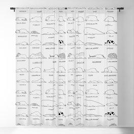 Moody Animals Pattern Blackout Curtain