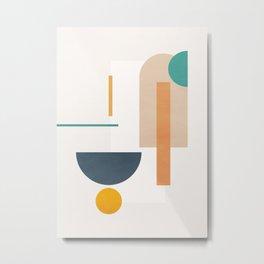 Minimal Geometric Shapes 102 Metal Print