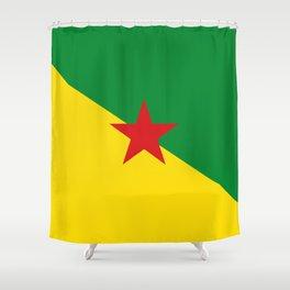 French Guiana Flag Shower Curtain