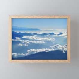 Mountains and Clouds in Nepal Framed Mini Art Print