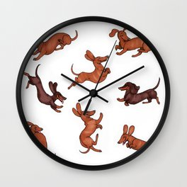 Wiener Doggies Wall Clock
