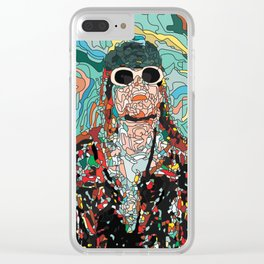 Maybe Just Happy Clear iPhone Case
