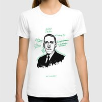lovecraft T-shirts featuring H.P. Lovecraft by darkscrybe