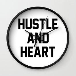 Hustle And Heart Wall Clock