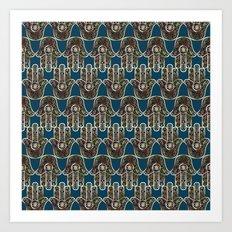 Hamsa Mosaic Pattern Art Print