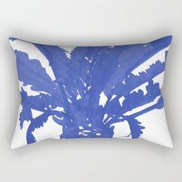 Stand Tall Blue Palm Tree Rectangular Pillow
