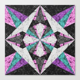 Marble Geometric Background G440 Canvas Print