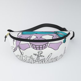 Salty Wench Pirate Skull Crossbones Anchor Beach Pastel Goth T-Shirt Fanny Pack