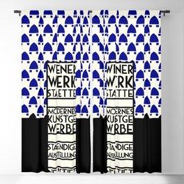 Wiener Werkstaette retro vintage artwork expo Blackout Curtain