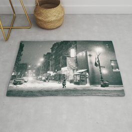 New York City - Night in the Winter - Lower East Side Rug