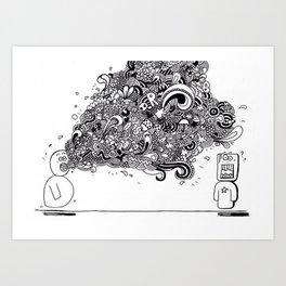 """Bla, bla, bla"" Art Print"