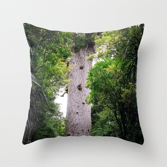 The World's Oldest Wood, Ancient Kauri Throw Pillow