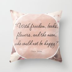 Freedom & Books Throw Pillow