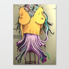 OCTOPUS WOMAN Canvas Print