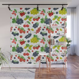 Colorful Berries Pattern Wall Mural