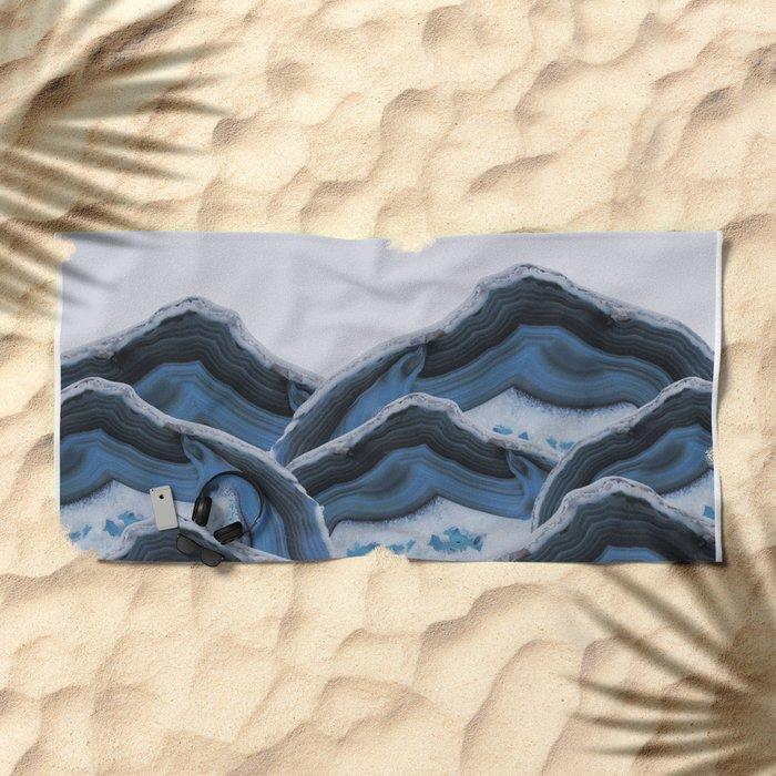 Agate Blue Mountains Beach Towel