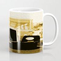 car Mugs featuring Car by Mikhaelle A.