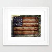 america Framed Art Prints featuring america by Arken25