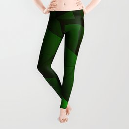 Bright contrasting green fragments of crystals on triangles of irregular shape. Leggings