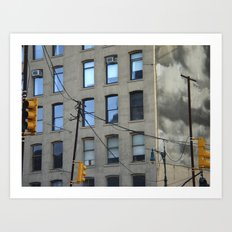 nyc clouds Art Print