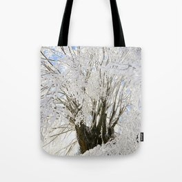 Icy Branches Tote Bag