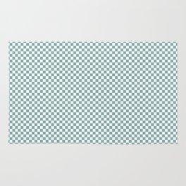 Small Mint Checker Pattern Rug
