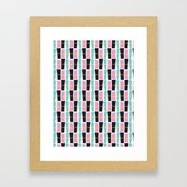 Memphis Style Geometric Abstract Seamless Drawn Pop Art Framed Art Print