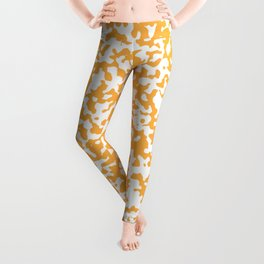 Small Spots - White and Pastel Orange Leggings