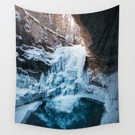 Johnston Canyon Waterfall Wall Tapestry