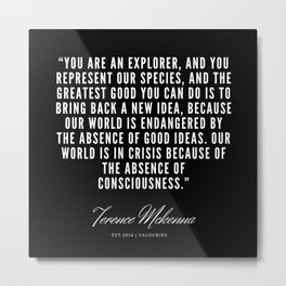 3  |  Terence Mckenna Quote 190516 Metal Print