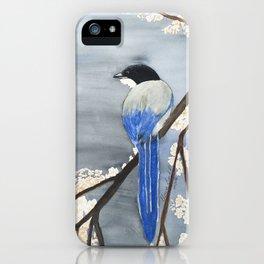 Blue Magpie iPhone Case