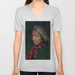 Red Cloud - Oglala American Indian Unisex V-Neck