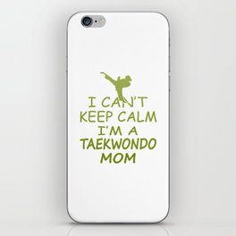 I'M A TAEKWONDO MOM iPhone Skin