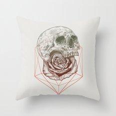 Skull Rose Geo Throw Pillow