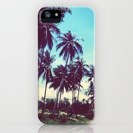 Road of palm trees iPhone Case