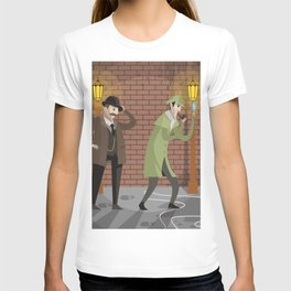 great detective and sidekick in crime alley T-shirt