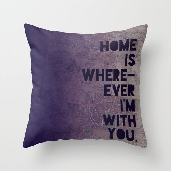 With You Throw Pillow