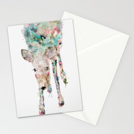 into the wild little deer Stationery Cards
