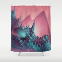 tooth Shower Curtains featuring Sweet Tooth  by Lovevisuals