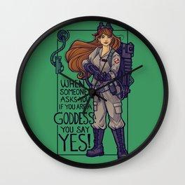 Ghostbuster Goddess Wall Clock